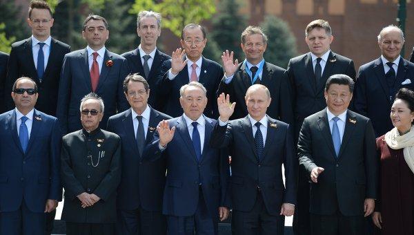 Главы делегаций на парад Победы 70