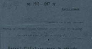 Статистический сборник за 1913-1917. Выпуск 1